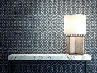Onix Mosaico Hex Stoneglass Blends