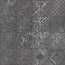 Abitare Icon Dec Patchwork Black Lapp 60x60