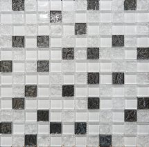 Altacera Bella Mosaic Glass White 30x30