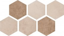 Argenta Atlas Hexagon Multi Warm 22x25