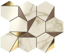 Atlas Concorde Marvel Edge Gold Hex Brown Calacatta 25.1x29