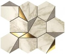 Atlas Concorde Marvel Edge Gold Hex Gris Calacatta 25.1x29