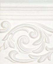 Carmen Vintage Decor Poesia White 17.8x15