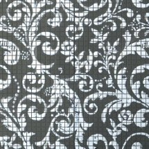 Fap Mosaici Dark Side Damasco Black White Mosaico 60x60
