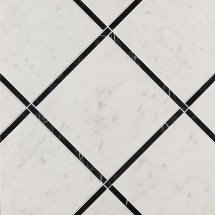 Fap Roma Diamond Incroci Carrara Nero Reale Inserto 60x60