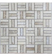 FK Marble Classic Mosaic Travertine 48-15-7M 30x30