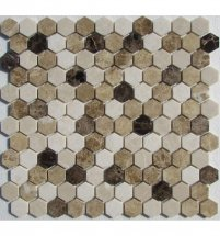 FK Marble Hexagon Mix Emperador 29.5x28