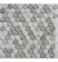 FK Marble Hexagon White-Grey 29.5x28