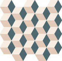 Italon Element Silk Mosaico Cube Cold 30.5x33