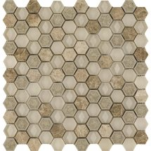 LAntic Colonial Mosaics Aura Hexagon Creams 29x30