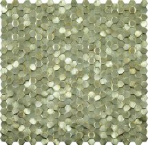 LAntic Colonial Mosaics Gravity Aluminium 3D Hexagon Gold 30.4x31