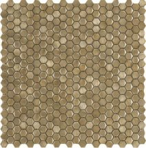LAntic Colonial Mosaics Gravity Aluminium Hexagon Gold 31x31