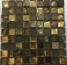 LAntic Colonial Mosaics Treasures Bronze Emperador 30.1x30.1
