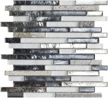LAntic Colonial Mosaics Treasures Mist Shannan Strip 29.8x30.6