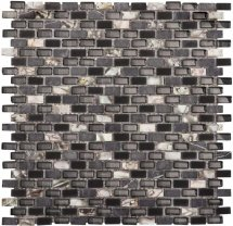 LAntic Colonial Mosaics Tribal Pearl Black 28.6x28.3