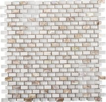 LAntic Colonial Mosaics Tribal Pearl White 28.6x28.3