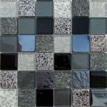 Liya Mosaic Elements Black 30x30
