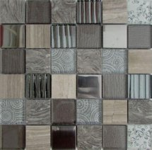 Liya Mosaic Elements Grey 30x30