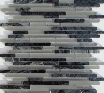 Liya Mosaic Stripes Grey 30.1x30.1