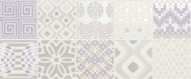 Novabell Milady Preinciso Patchwork White Lilac 25x60