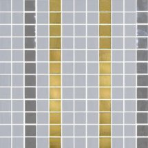 Onix Mosaico Deco Patterns Stripes Gold 31.1x31.1