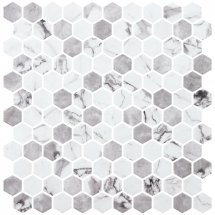 Onix Mosaico Hex Marmoreal Misty Matte 30.1x29