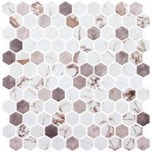 Onix Mosaico Hex Marmoreal Umber 30.1x29