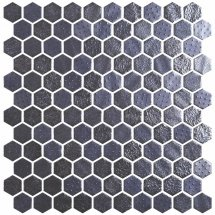 Onix Mosaico Hex Metal Blends Black 30.1x29