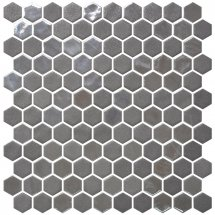 Onix Mosaico Hex Stoneglass Blends Opalo Grey 30.1x29