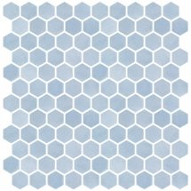 Onix Mosaico Hex Stoneglass Light Blue 30.1x29