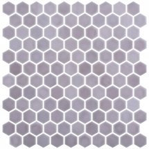 Onix Mosaico Hex Stoneglass Light Brun 30.1x29