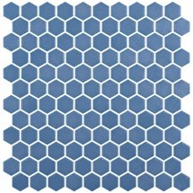 Onix Mosaico Hex Stoneglass Royal Blue 30.1x29