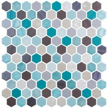 Onix Mosaico Hexagon Blends Aquamarine 30.1x29