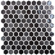 Onix Mosaico Hexagon Blends Black 30.1x29