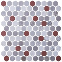 Onix Mosaico Hexagon Blends Garnet 30.1x29