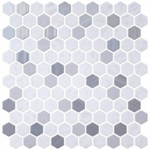 Onix Mosaico Hexagon Blends Metal Carrara 30.1x29