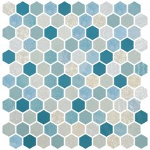Onix Mosaico Hexagon Blends Seagreen 30.1x29