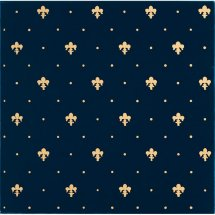 Petracers Grand Elegance Gold Giglio Oro Su Blu 20x20