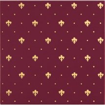 Petracers Grand Elegance Gold Giglio Oro Su Bordeaux 20x20