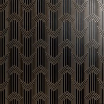 Petracers Swing Geometria Ottone Su Nero Matt 60x60