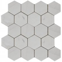 Stone4Home Marble Mosaic Hexagon MW Tumbled 74x74 27x30.5