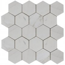 Stone4Home Marble Mosaic Hexagon MWP 74x74 27x30.5