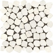 Stone4Home Marble Mosaic Peble MW Tumbled 30.5x30.5