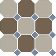TopCer Octagon Beige Coffe Brown Blue Cobalt 30x30