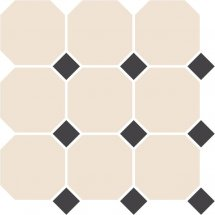 TopCer Octagon White Black Dots 30x30