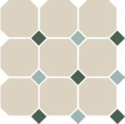 TopCer Octagon White Green Turquoise 30x30
