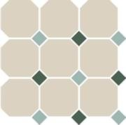 TopCer Octagon White Turquoise Green 30x30