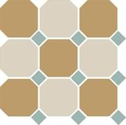 TopCer Octagon Yellow White Turquoise 30x30