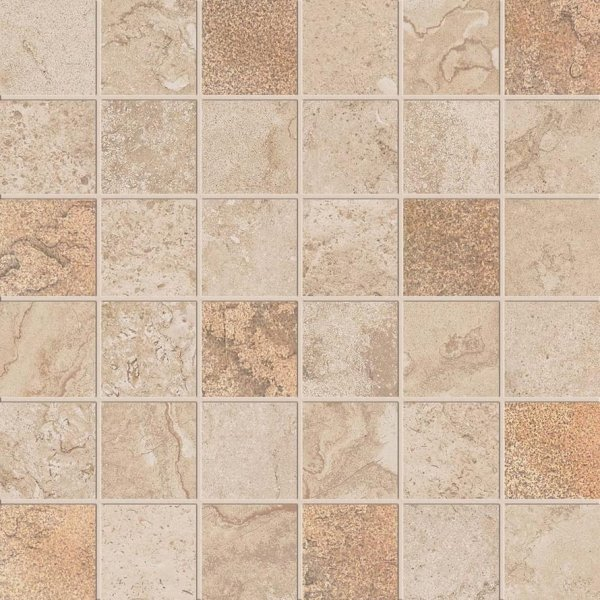 ABK Alpes Raw Mos Quadr Glam Sand Rett 30x30